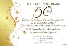 Modele carte anniversaire 50 ans de mariage
