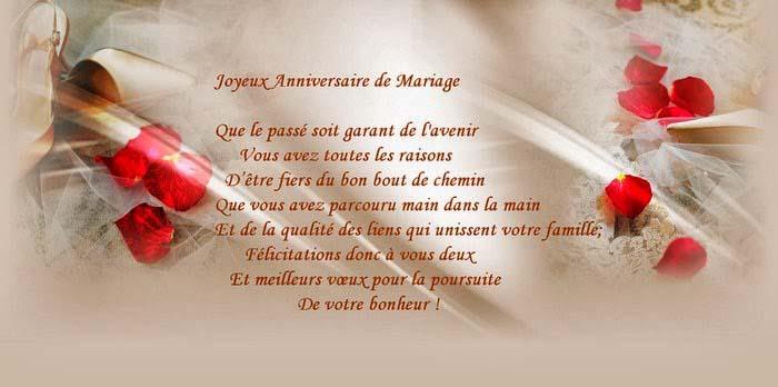 Joyeux anniversaire de mariage voeux