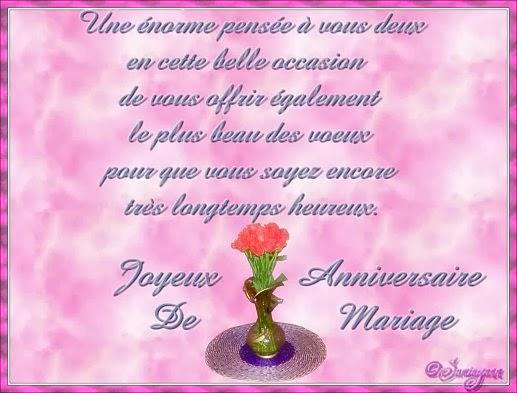 Carte de voeux anniversaire mariage gratuite