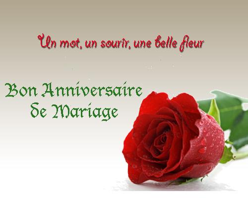 Texte carte de voeux anniversaire de mariage