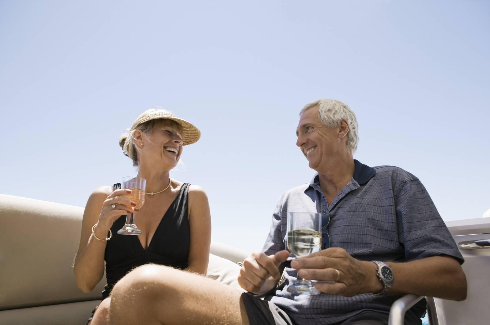 Anniversaire de mariage sur un bateau