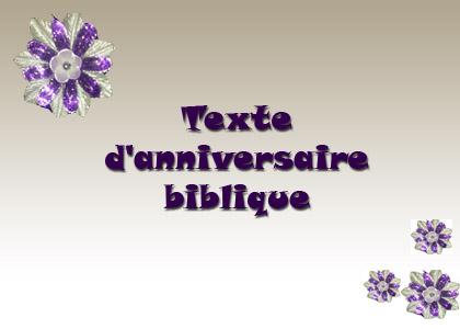 Anniversaire de mariage texte biblique