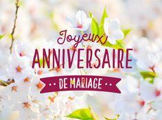 Joyeux anniversaire de mariage un an