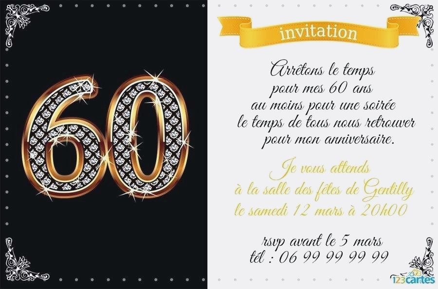 Joyeux anniversaire 60 ans de mariage
