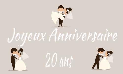 Carte Anniversaire De 20 Ans De Mariage Elevagequalitetouraine