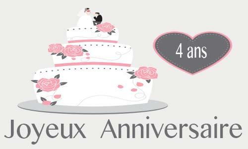 Joyeux anniversaire 4 ans de mariage