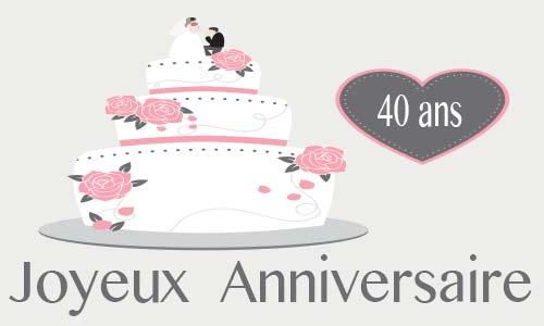 Gateau 40ème anniversaire de mariage