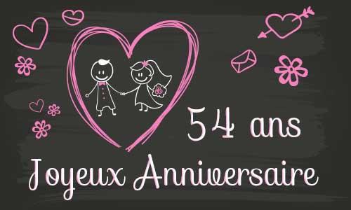 Joyeux anniversaire de mariage 54 ans