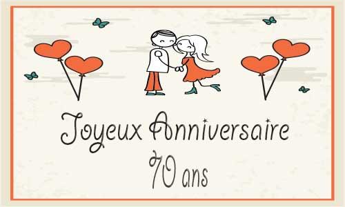 70 ans anniversaire de mariage