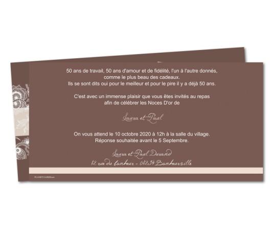 Carte invitation anniversaire de mariage 5 ans