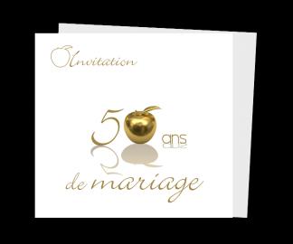 Carte d'invitation pour anniversaire de mariage gratuite