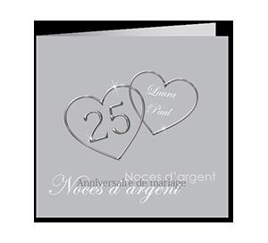 Texte invitation anniversaire de mariage 25 ans