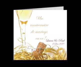 Texte invitation anniversaire de mariage gratuite à imprimer