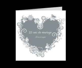 Remerciement 25ème anniversaire de mariage