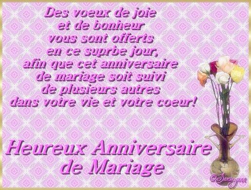 Joyeux Anniversaire De Mariage Carte Elevagequalitetouraine