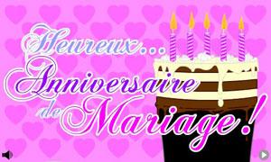Carte virtuelle anniversaire de mariage 19 ans