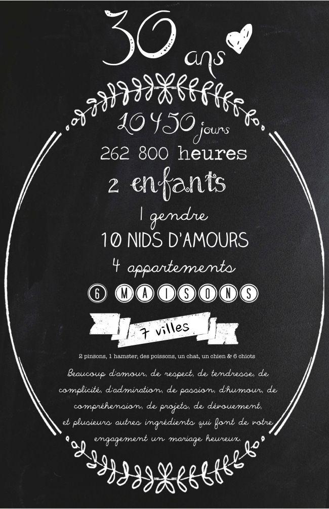 Carte d'invitation 25e anniversaire de mariage