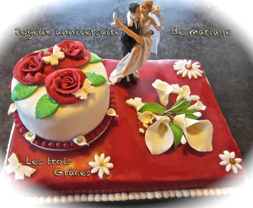 Gateau anniversaire de mariage 5 ans