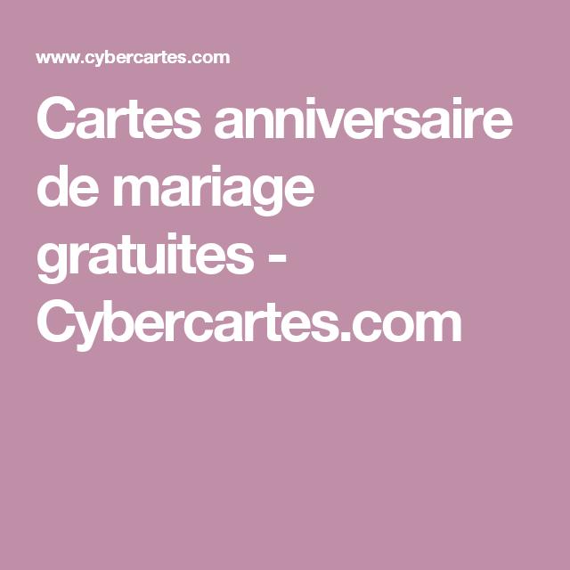 Anniversaire de mariage cybercartes