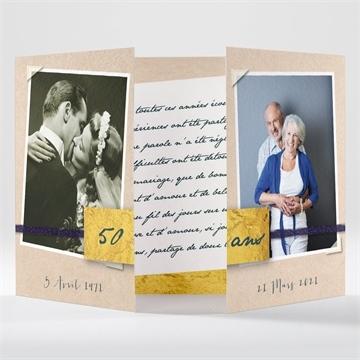 Carte d'invitation anniversaire de mariage surprise