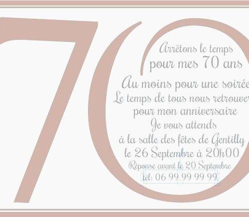 Invitation anniversaire 70 ans de mariage