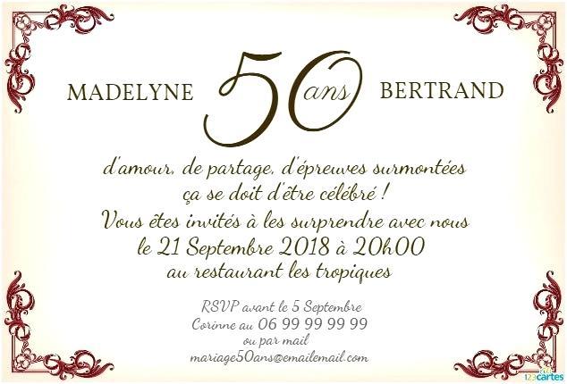 Formules anniversaire 50 ans de mariage