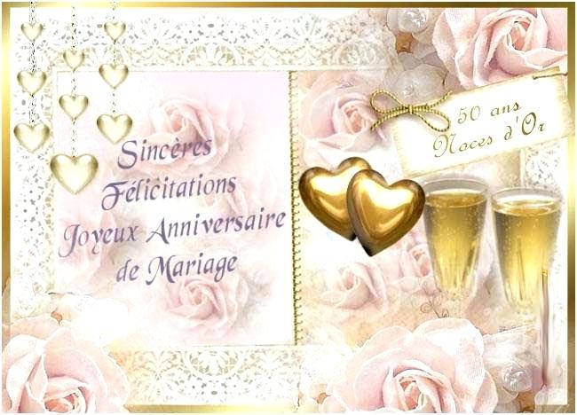Carte anniversaire 50ans de mariage