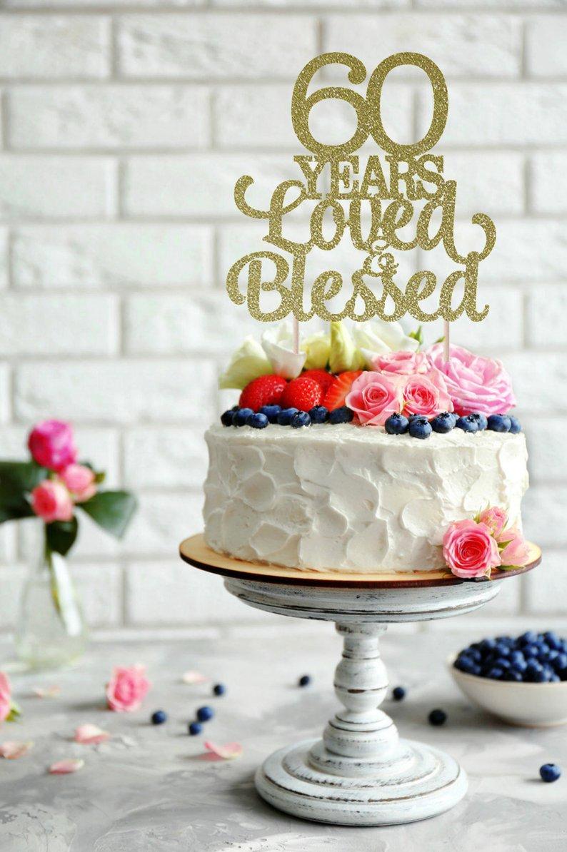 Gateau 60e anniversaire de mariage
