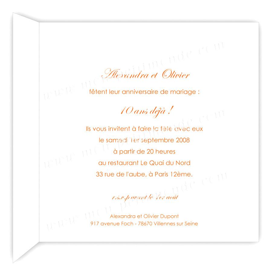 Texte invitation anniversaire de mariage 45 ans