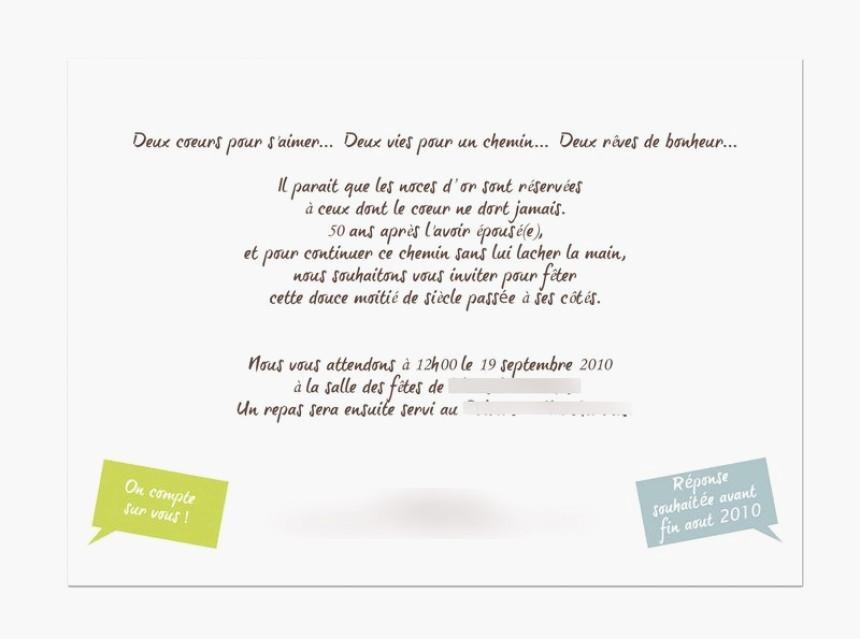 Anniversaire de mariage invitation texte