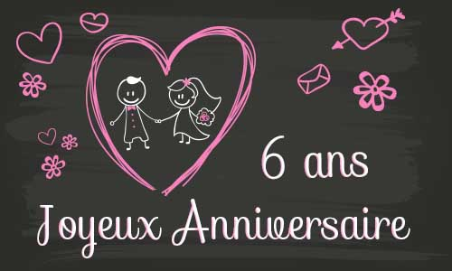 Cybercarte anniversaire de mariage 6 ans