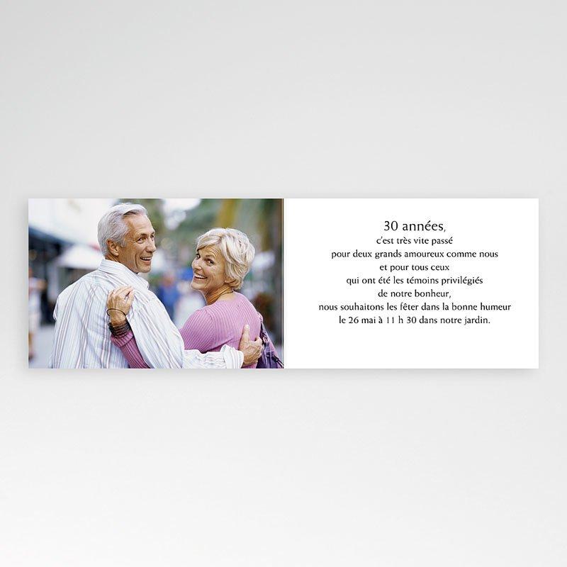 Texte d'invitation anniversaire de mariage 30 ans