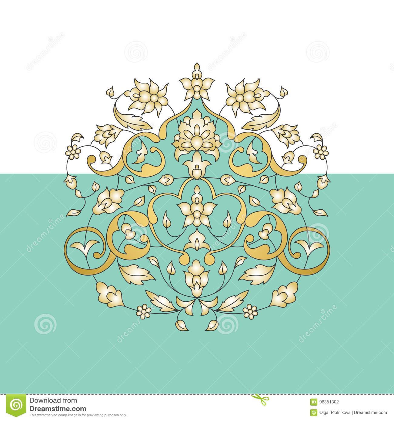Ornement oriental carte anniversaire de mariage