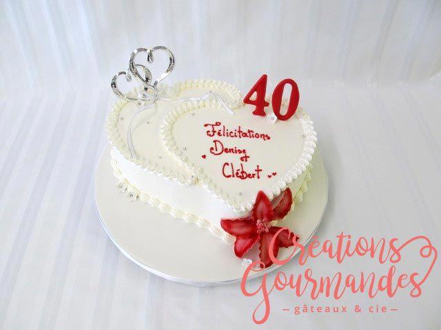 Deco gateau anniversaire de mariage