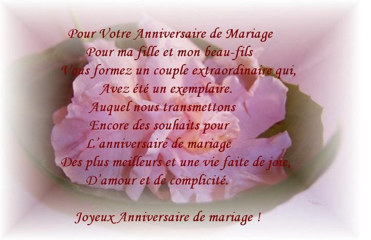Mots d'amour anniversaire de mariage
