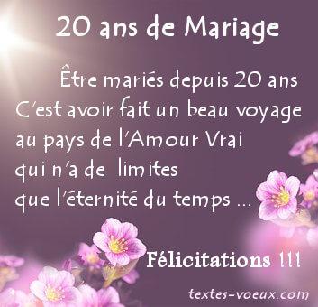 Anniversaire de mariage 20 ans noce de quoi