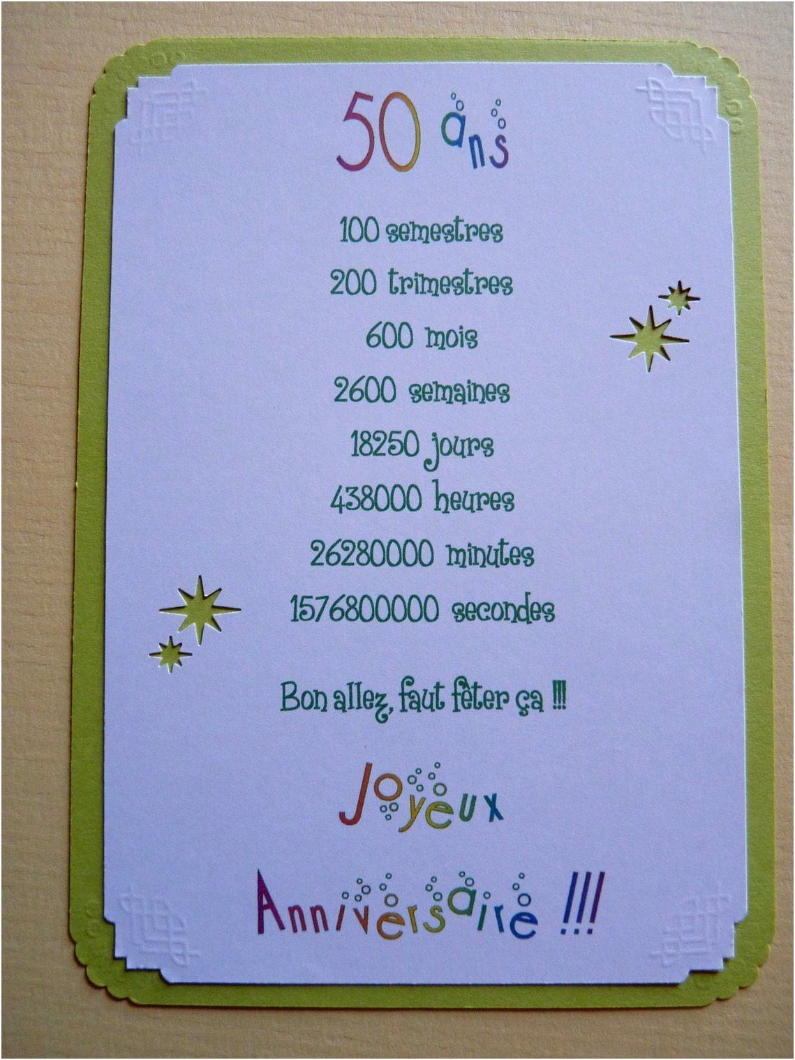 Carte Humoristique Pour Anniversaire De Mariage 50 Ans