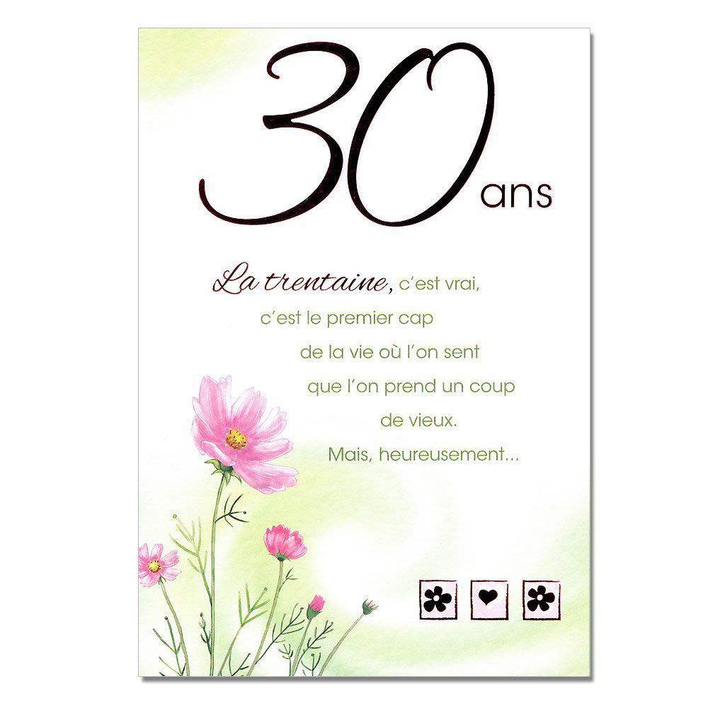 Texte carte anniversaire 30 ans de mariage