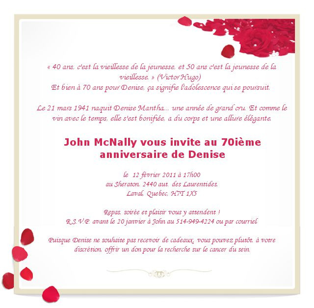Texte invitation humoristique anniversaire de mariage