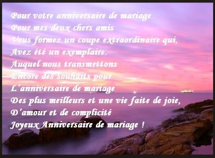 Commentaire anniversaire de mariage
